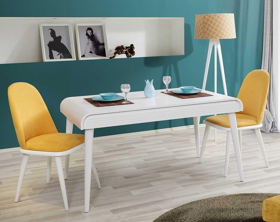 Caprice Mutfak Masa (Beyaz)